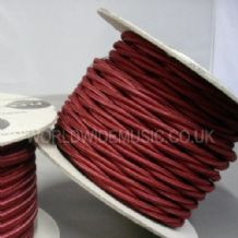 TWIST 2 Core Braided Fabric Cable Lighting Lamp Flex Vintage - BURGUNDY